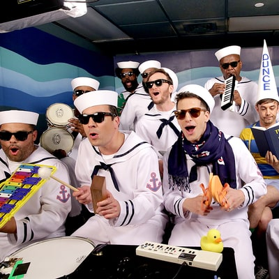 The Lonely Island, The Roots Cover 'I'm on a Boat' With Classroom Instruments on 'The Tonight Show Starring Jimmy Fallon'