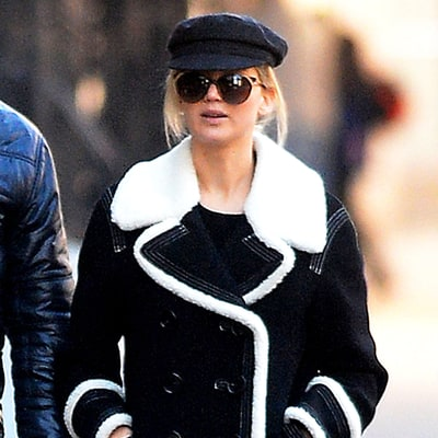 Jennifer Lawrence Is Our Wintry Style Crush in This Shearling Coat: Shop the Look for Less