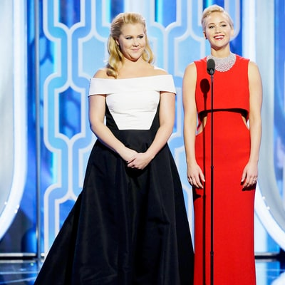 Jennifer Lawrence, Amy Schumer Really Are BFFs and Their Globes Presentation Was Proof — Watch