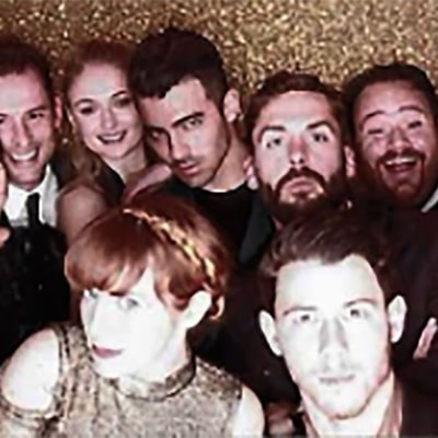 Joe Jonas and Girlfriend Sophie Turner Cozy Up in a Photo Booth at a Friend's Malibu Wedding