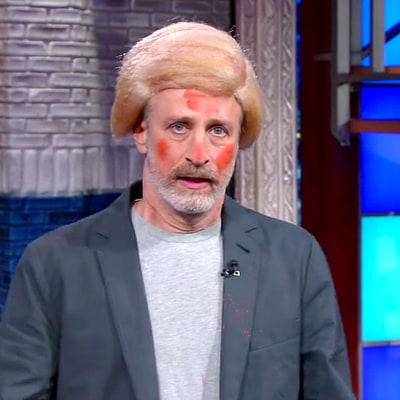 Jon Stewart Wears Donald Trump Wig, Cheetos Dust Makeup on Late Show With Stephen Colbert: Watch His Impersonation!