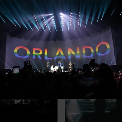 Demi Lovato, Nick Jonas Pay Tribute to Orlando Victims During Concert