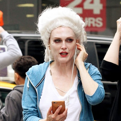 Julianne Moore Is Completely Unrecognizable in This Marie Antoinette-Worthy Wig