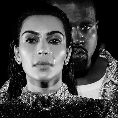 Kanye West Drops Surprise Video for 'Wolves,' Cries In It With Kim Kardashian