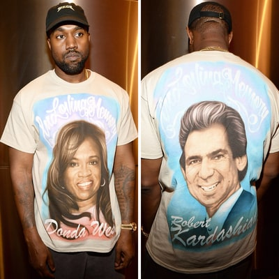 Kanye West Wears a T-Shirt Dedicated to Donda, Robert Kardashian Sr. During His Season 3 Debut — See the Unique Creation