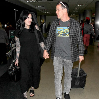 Kat Von D, Steve-O Hold Hands at Airport, Only Have Eyes for Each Other as News of Their Romance Breaks: Pics!