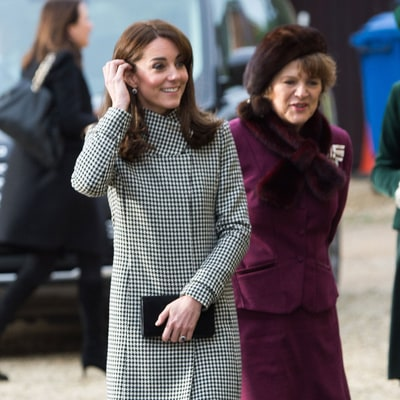 Kate Middleton Looks Chic in Black and White Houndstooth Coat at Winter Function: Photos