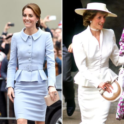 Duchess Kate Channels Princess Diana in This Retro-Minded Skirt Suit