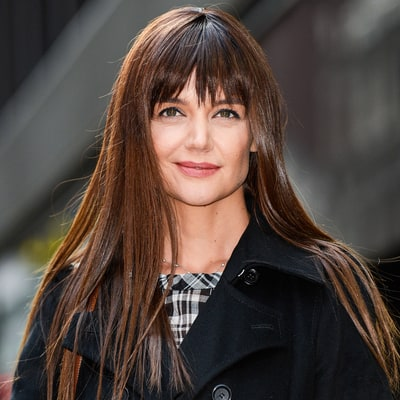 Katie Holmes Got Glossy, Brow-Skimming Bangs