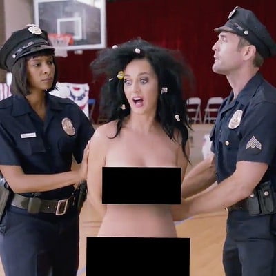 Katy Perry Tries to Vote Naked, Gets Arrested in Election Video