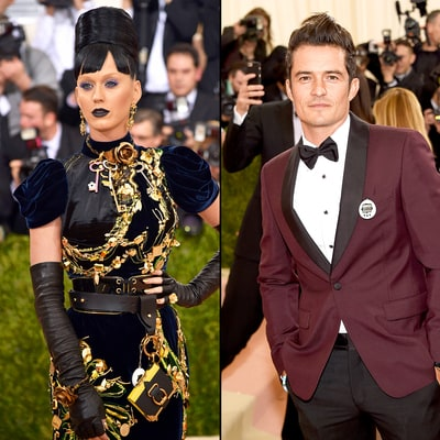 Katy Perry, Orlando Bloom Accessorized With Matching Tamagotchis at Met Gala 2016