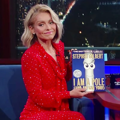 Kelly Ripa Got a Note From Her Son's Teacher and Stephen Colbert Was to Blame