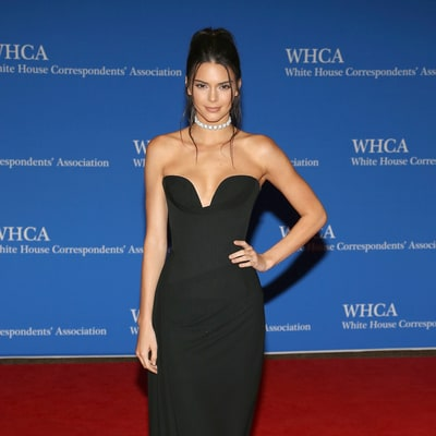 Kendall Jenner Stuns in Low-Cut Black Dress at White House Correspondents Dinner 2016