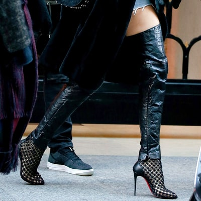 Do you love or hate Kendall Jenner's thigh-high leather leg warmers?