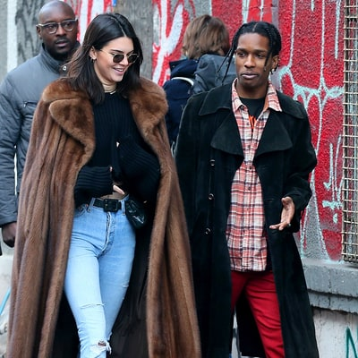 Kendall Jenner and A$AP Rocky Visit Paris Flea Market Together: Photos