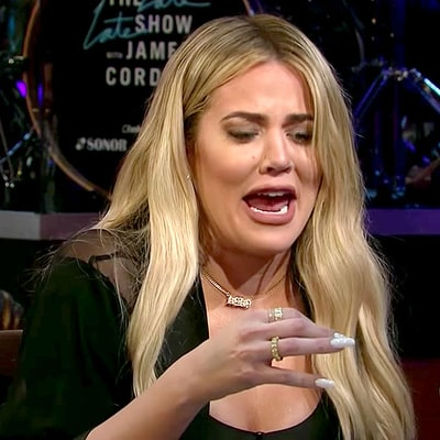 Khloe Kardashian Eats a Fish Eye to Avoid Answering O.J. Simpson Question From James Corden