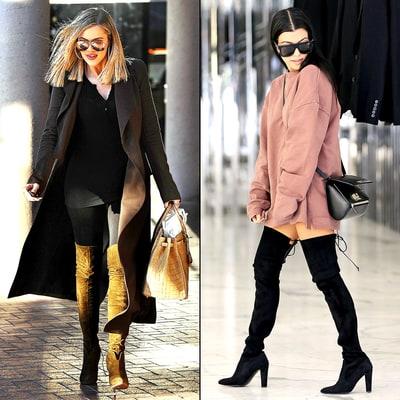 Khloe Kardashian Kourtney Wear Matching Suede Boots: Vote! - Us