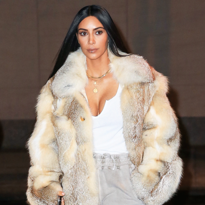 Kim Kardashian Wears Sweatpants for a Night Out in New York City