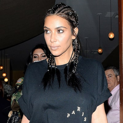Kim Kardashian's Jewelry-Embellished Cornrow Hairstyle: Love It or Hate It?
