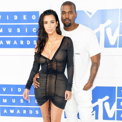 Kim Kardashian Flaunts 70-Pound Post-Baby Weight Loss in Sheer Dress on MTV VMAs 2016 Red Carpet