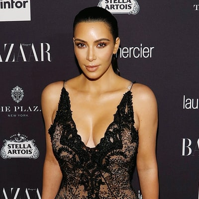 Kim Kardashian Posts Another Barely Safe for Instagram Shot of Her Boobs and Waist in Sexy Fishnets