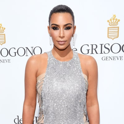 Kim Kardashian Draped Herself in Crystals for 2016 Cannes Red Carpet Debut