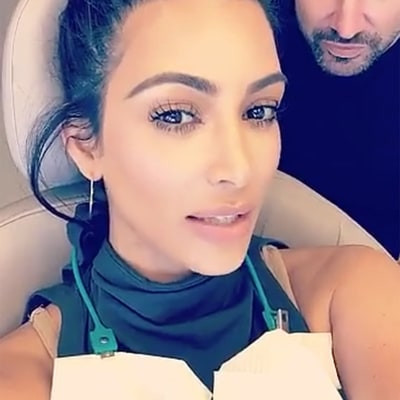 Kim Kardashian Snapchats Dental Emergency on the Way to Las Vegas: 'I Chipped My Front Tooth!'