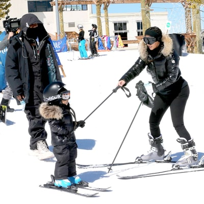 Watch Kim Kardashian and Kanye West Teach North West How to Ski