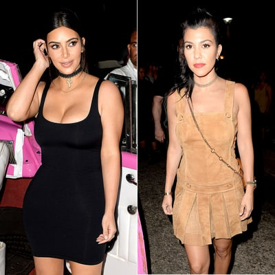 Kim and Kourtney Kardashian Take Cuba in Skintight Outfits — See Their Street Style