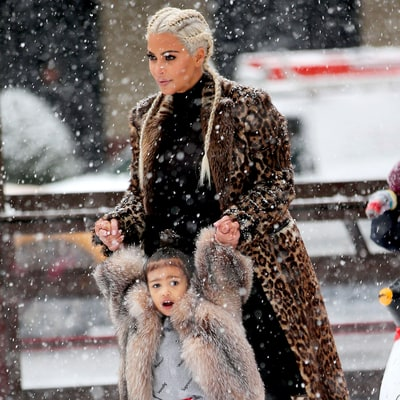 Fur-Clad North West Learns to Ice-Skate: Adorable Pics!