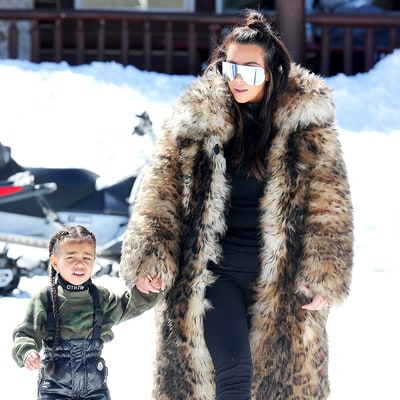 Kim Kardashian Teaches North West How to Ski on Family Trip: See the Adorable Pics