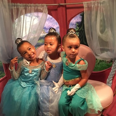 North West, Penelope Disick Get Princess Makeovers at Disneyland: See the Photo!