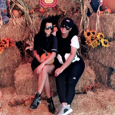 Kourtney Kardashian and Blac Chyna Go Pumpkin Picking With Their Kids