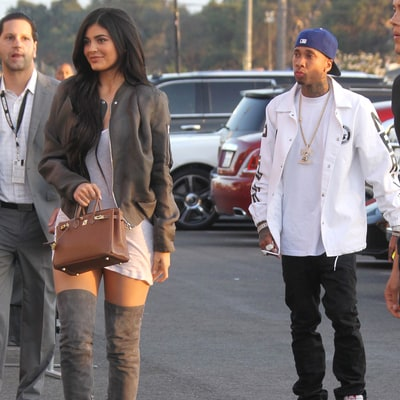 Kylie Jenner and Tyga Reunite, Hold Hands at Premiere of Kanye West's 'Famous' Video