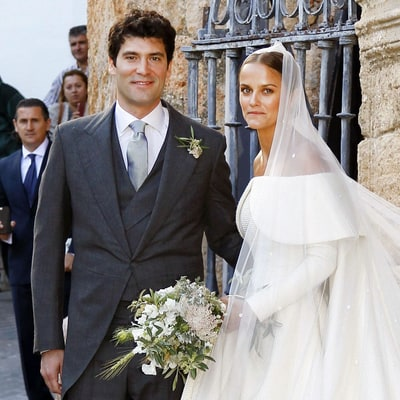 Lady Charlotte Wellesley Stuns in Voluminous Wedding Dress for Spanish Nuptials