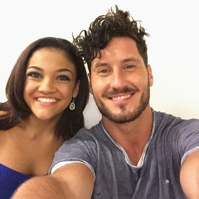 Laurie Hernandez Is Already Nailing Her 'DWTS' Moves With Partner Val Chmerkovskiy