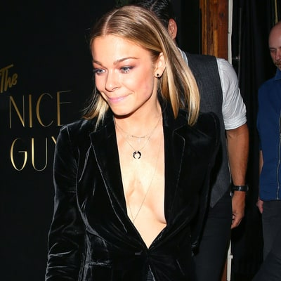 LeAnn Rimes Takes the Plunge in Daring Velvet Blazer for Date Night With Eddie Cibrian