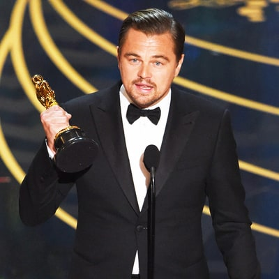 Leonardo DiCaprio Wins His First Academy Award for 'The Revenant' at Oscars 2016: See His Reaction