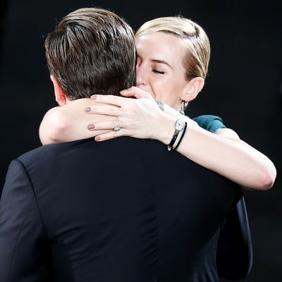 Leonardo DiCaprio Hugs Kate Winslet After First SAG Awards Win for 'The Revenant'