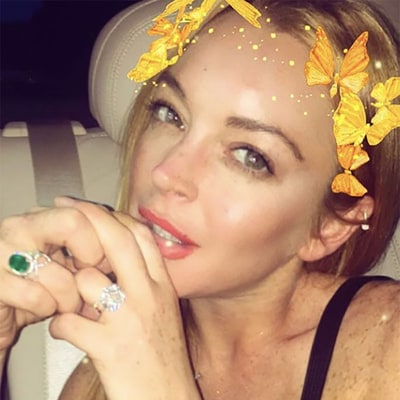 Lindsay Lohan Shows Off Engagement Ring One Month After Accusing Fiance Egor Tarabasov of Cheating