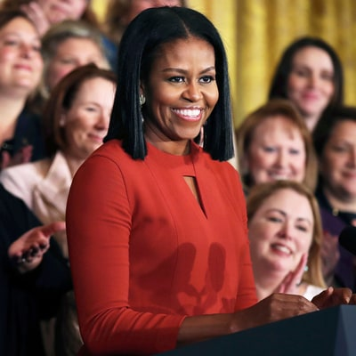 All the Details on Michelle Obama's Final-Speech Dress