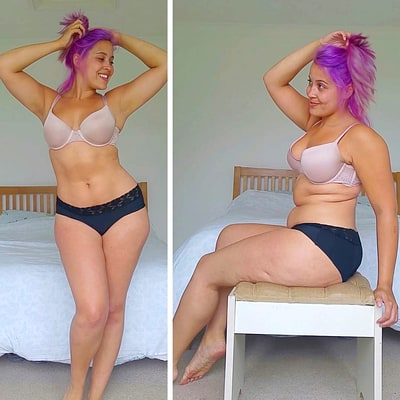Woman Who Battled Anorexia  Shows Off Her Stomach Rolls on Instagram