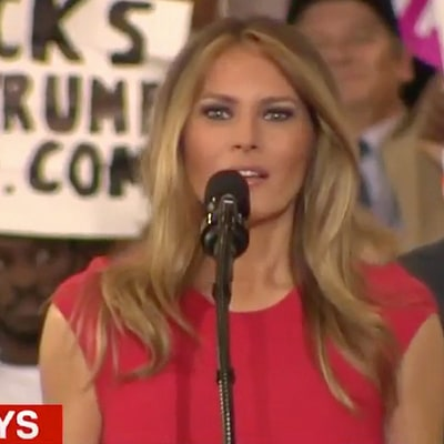 Melania Trump Debuts Lighter Hair, Leads Crowd in Prayer at Donald Trump's Florida Rally