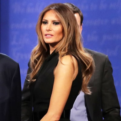 Melania Trump Wears Same Designer (and a Pussy Bow) as Hillary Clinton for Final Debate