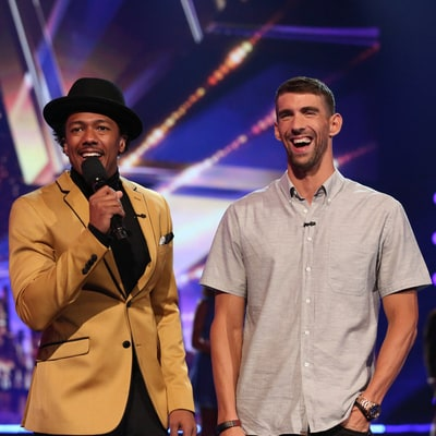 Michael Phelps Gets Standing Ovation as He Cohosts 'America's Got Talent' and Talks About Son Boomer