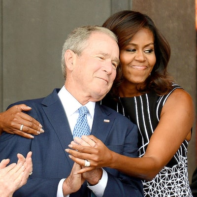 George W. Bush, Michelle Obama Hugged It Out and Everyone Is Here for It: Reactions!