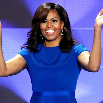 All the Details on Michelle Obama's Patriotic Blue DNC Dress