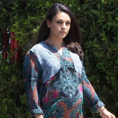 Pregnant Mila Kunis Rocks a '70s-Inspired Minidress, Proving Jackie Lives On