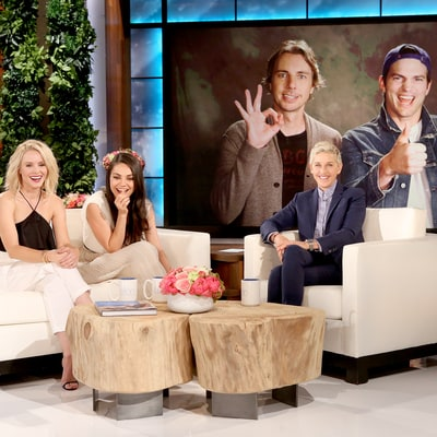 Mila Kunis Talks Sex Life With Ashton Kutcher on 'Ellen,' Plus the Couple Play 'Never Have I Ever' With Dax Shepard, Kristen Bell
