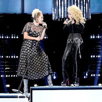 Miley Cyrus Performs 'Jolene' With Godmother Dolly Parton on 'The Voice'